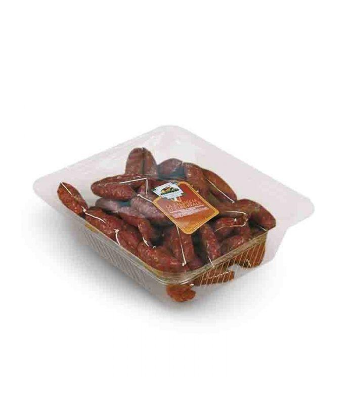 Salsiccia di cinghiale in confezione