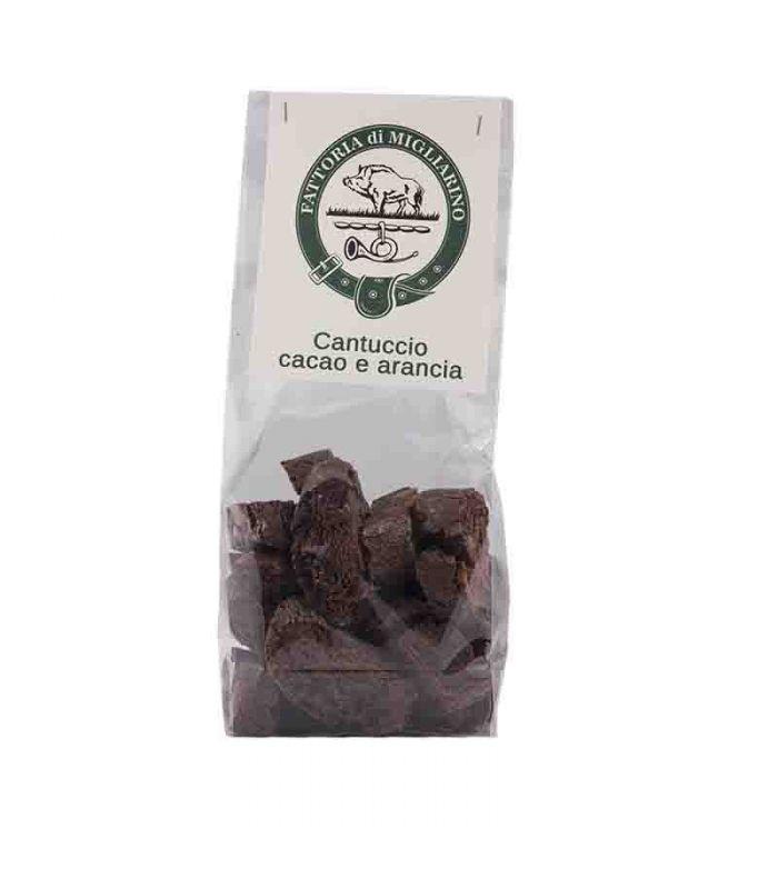 Cantucci artigianali toscani  di cioccolato
