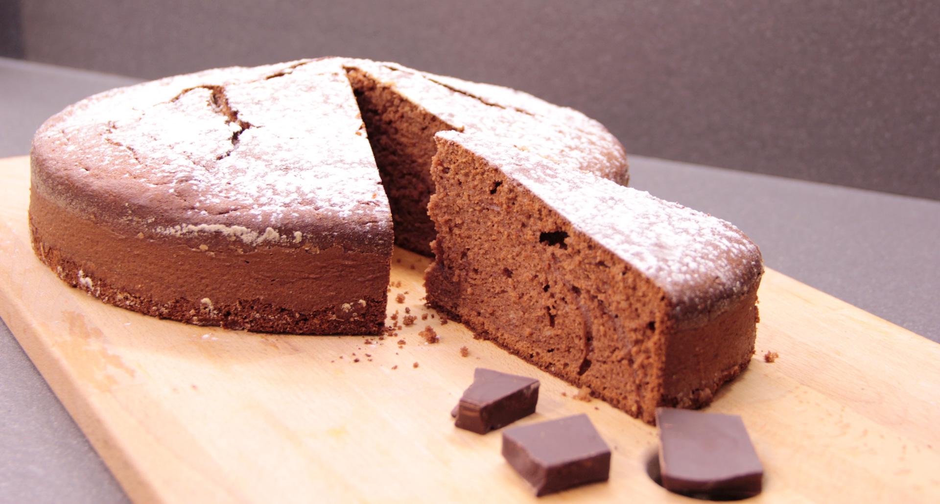 Torta al cioccolato con farina di castagne